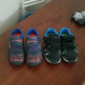 2 pairs boys shoes size 13